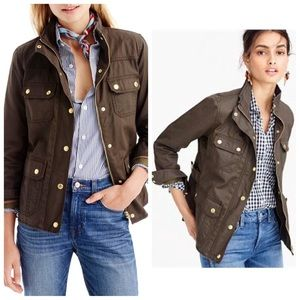 J.CREW Downtown Field Utility Jacket Olive Green